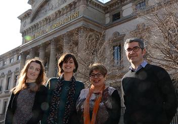 D'esquerra a dreta: Cristina Solé-Padullés, Bárbara Segura, Carme Junqué i David Bartrés Faz.